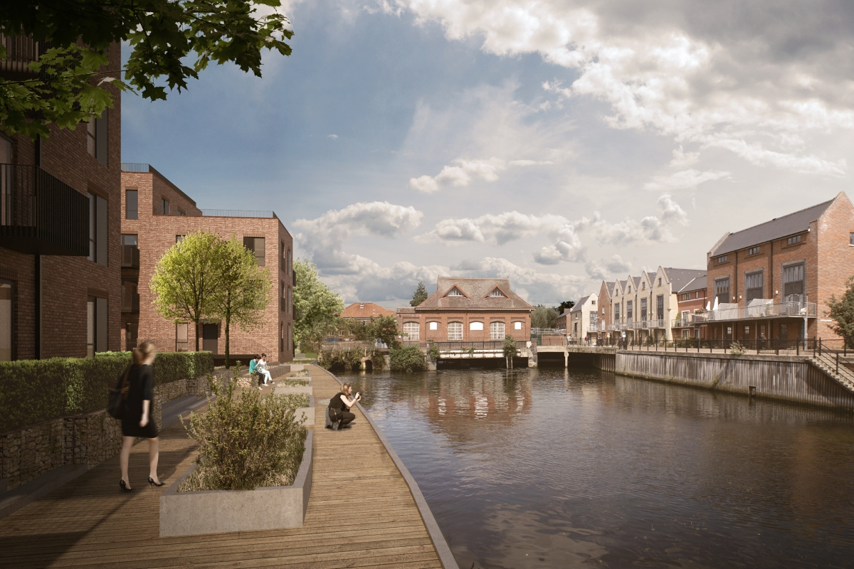 LSI Architects Design for new Norwich City Centre Apartments on Westwick Street