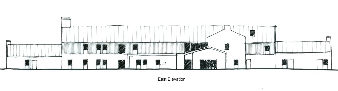 LSI Architects New Fair Havens Hospice Southend Proposals Sketch East Elevation