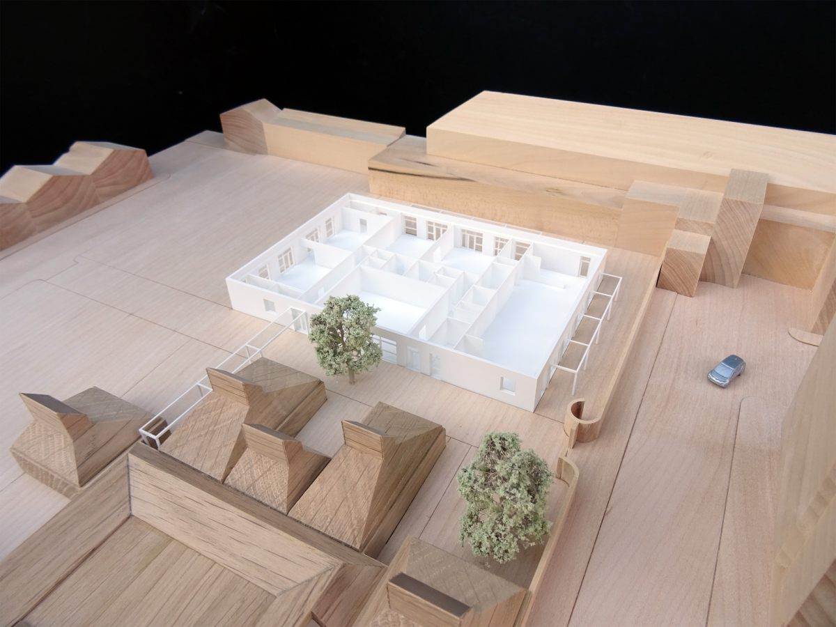 Image of Architectural Model of proposals to refurbish Grade II Listed Bromley Hall School in London Borough of Tower Hamlets