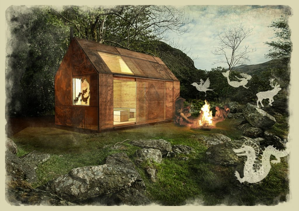The Bard's Hut -LSI Architects entry into the Welsh Glamping Cabin Competition