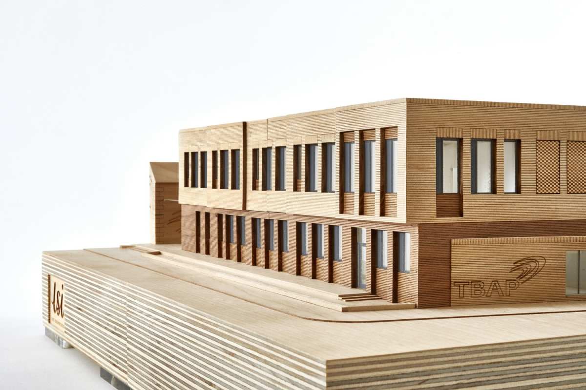 Bridge Academy Architectural Model by LSI Architects