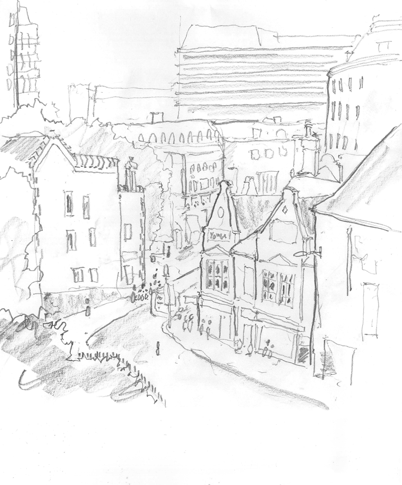 Chris Lappin Sketch Norwich Castle
