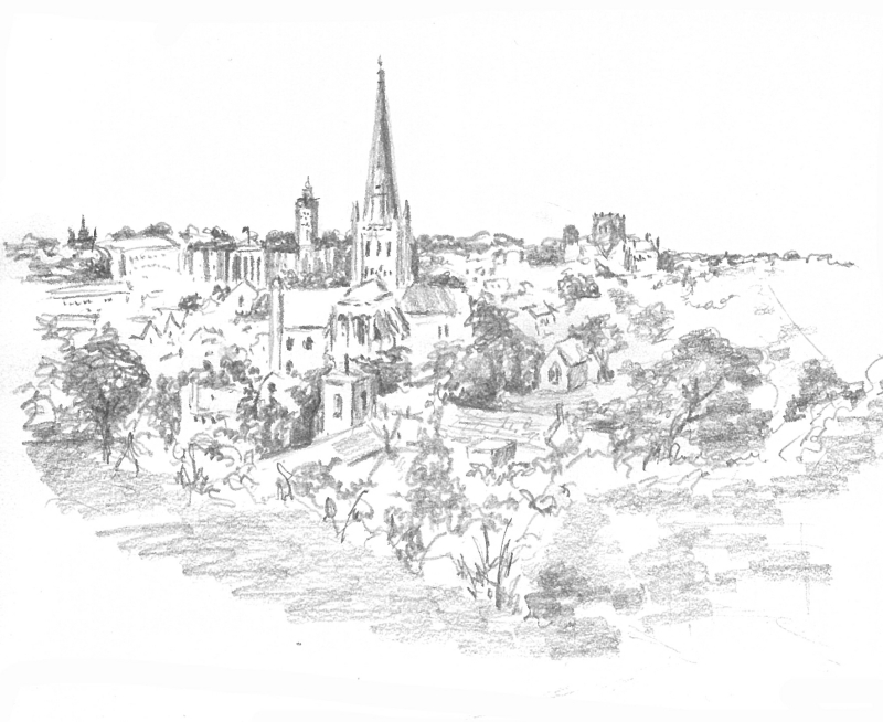 Debbie Cushing Sketch Norwich Mousehold Heath