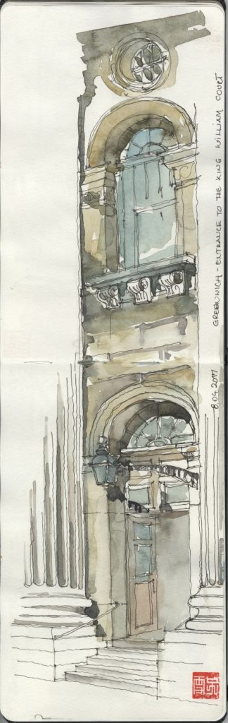Iuliana-Elena Gavril Sketch King William Court Greenwich Entrance