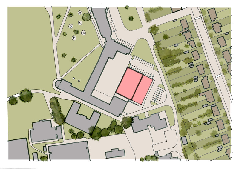 Jane Austen Academy Sports Hall Proposed Site Layout