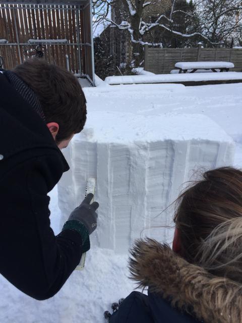 LSI Architects Norwich Castle Snow Model