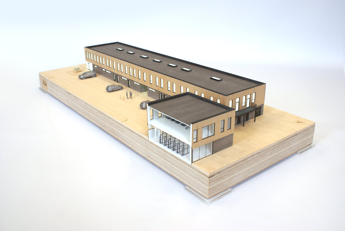 LSI Architects Norwich City Football Club Academy Building Architectural Model