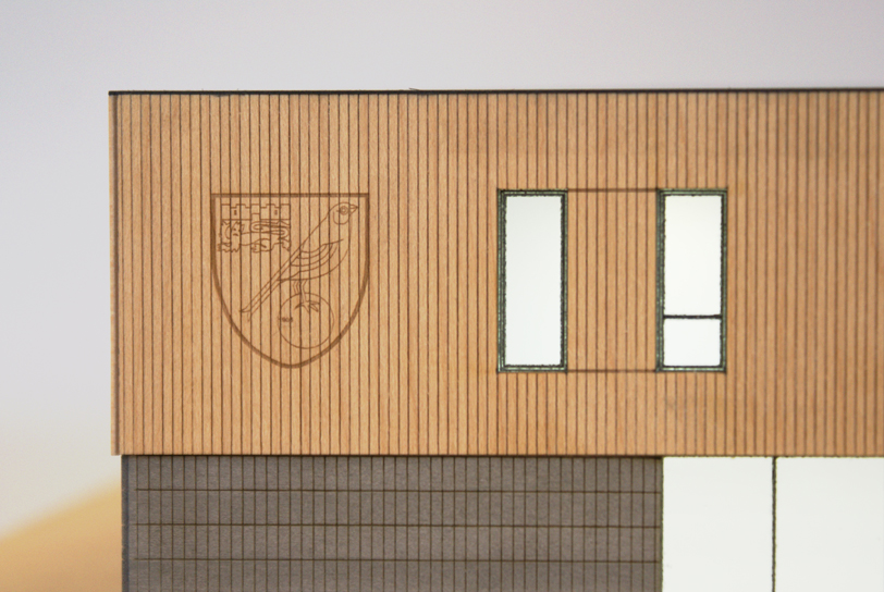 Architectural Model of the new Norwich City Football Club Academy Building