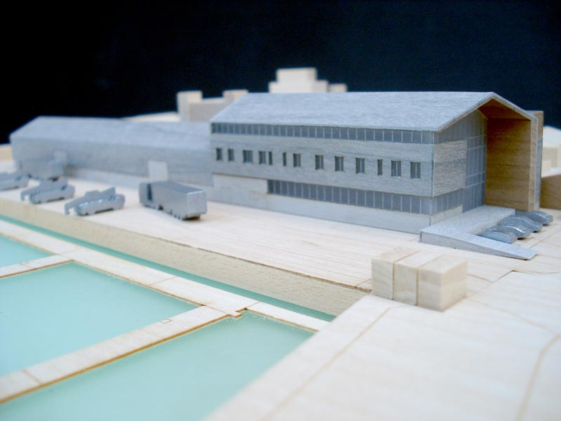 Architectural Model of East Anglia One windfarm land base by LSI Architects