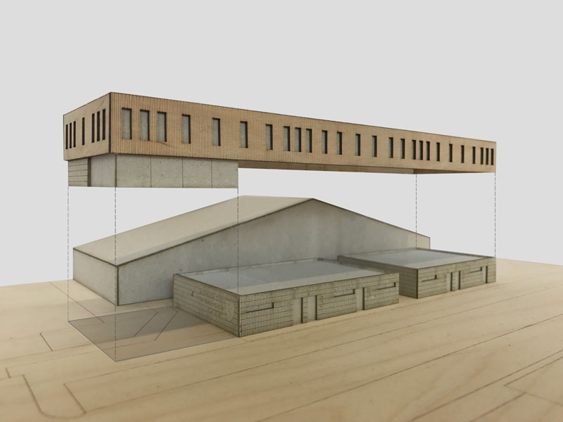 LSI Architects Site Progress at Norwich City Football Club's Colney Training Ground Model