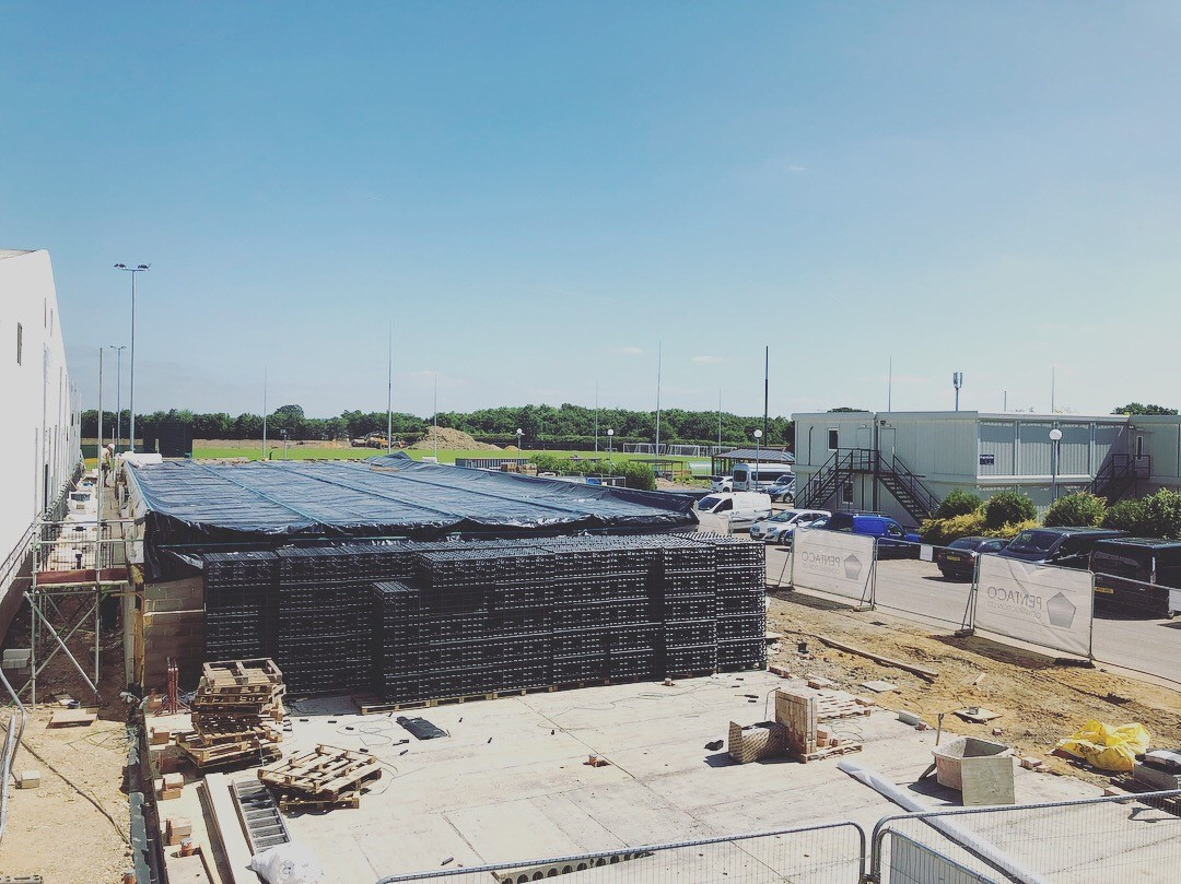 LSI Architects Site Progress at Norwich City Football Club's Colney Training Ground
