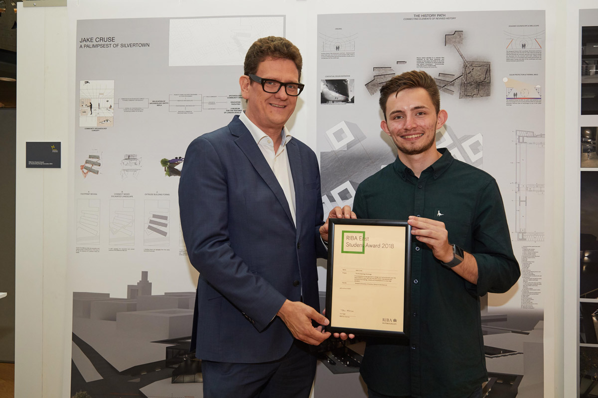 NUA Architecture RIBA East Student Award winner Jake Cruse