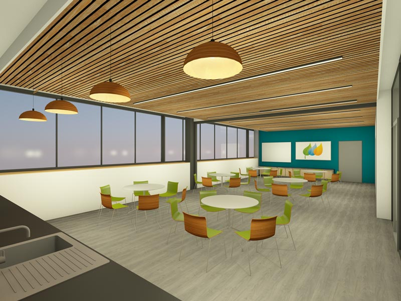 LSI Architects Visualisation of the East Anglia One Windfarm Operations Base Canteen