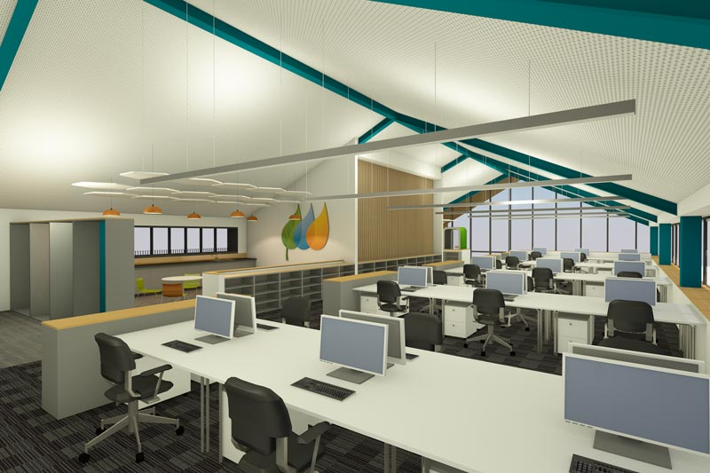LSI Architects Visualisation of the East Anglia One Windfarm Operations Base Office Space