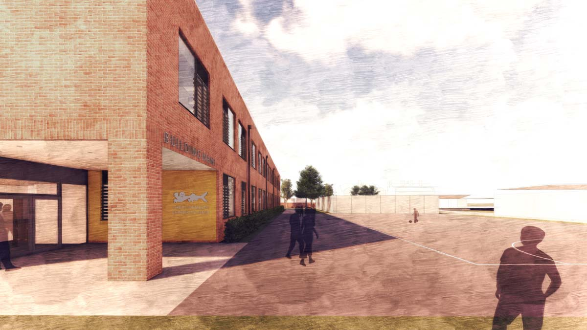 Great Yarmouth Charter Academy Entrance by LSI Architects