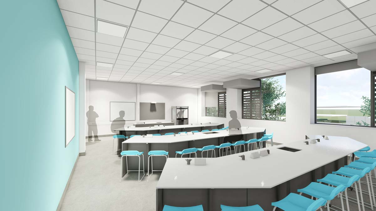Great Yarmouth Charter Academy Science Classroom by LSI Architects