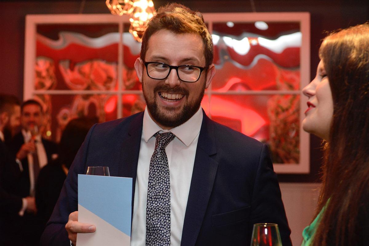 Associate Ben Wall at the AJ100 Awards Evening