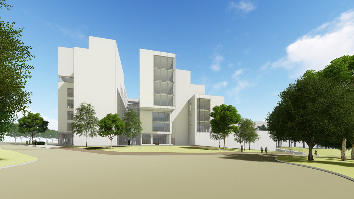 Visualisation of The Sky House, a new teaching facility at The University of East Anglia