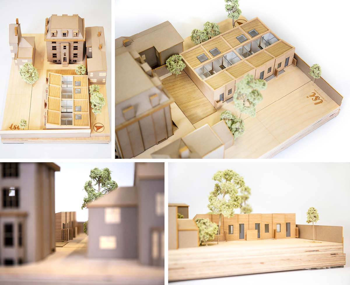 Architectural Model of LSI Architects Proposals for new housing at Sydenham Road Site in Croydon