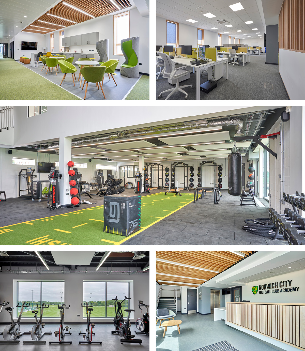 Interior Images of The Lotus Academy at Norwich City Football Clubs Colney Training Ground