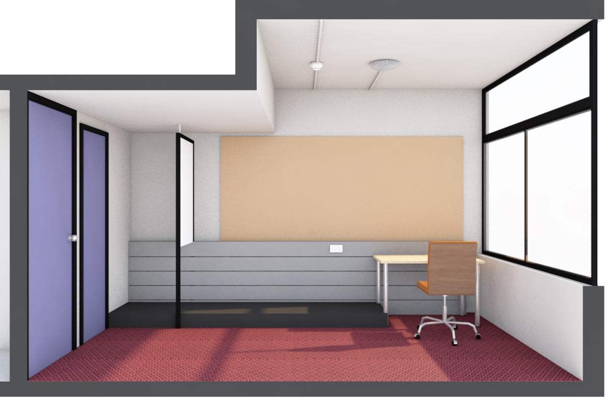 LSI Architects: UEA Suffolk Terrace Refurb - Existing Bedroom