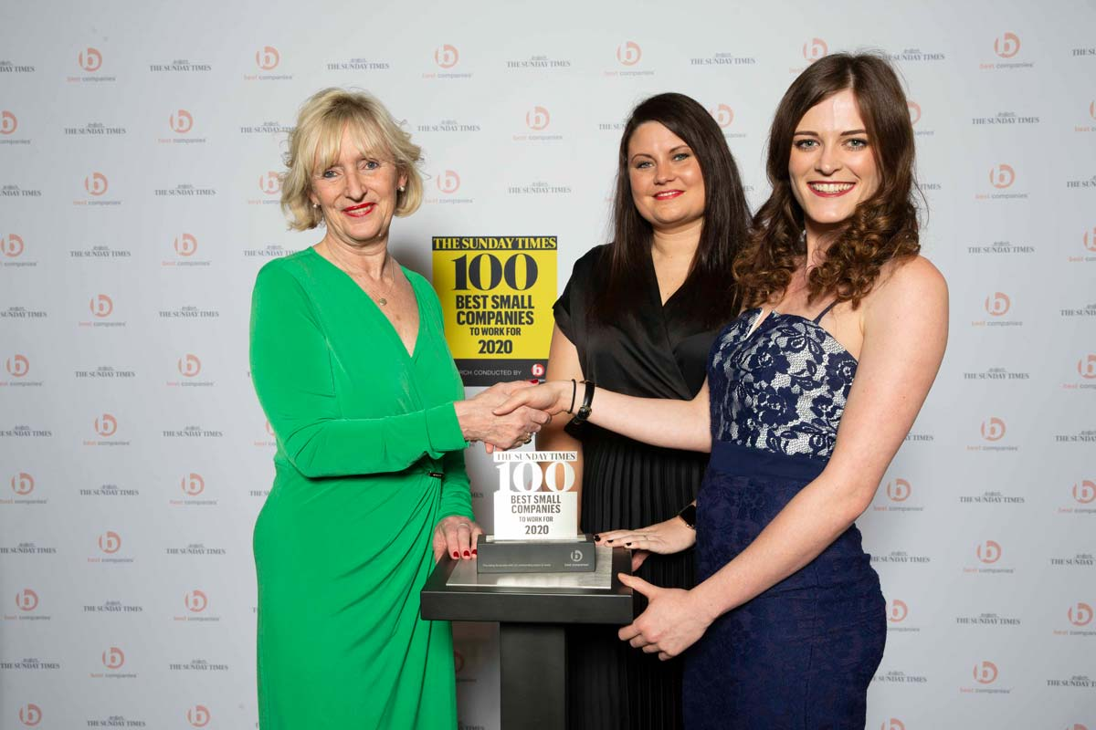 LSI Architects' Amy Forrest and Leanne Ackrell with Karen Robinson, Editor at the Sunday Times