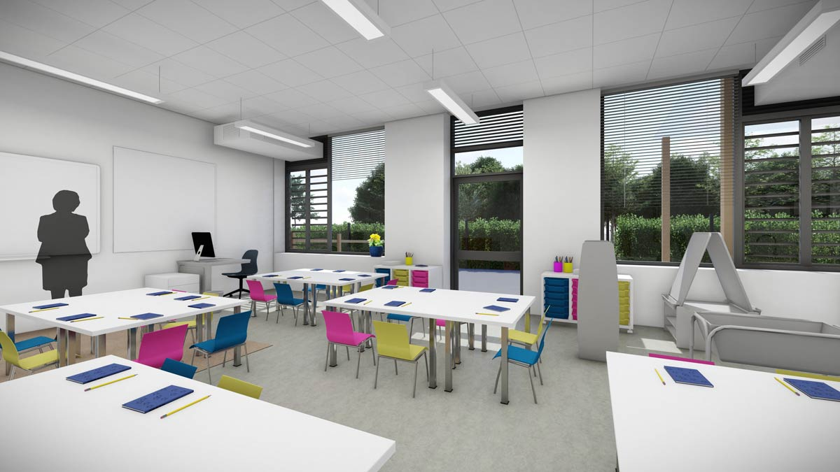 LSI Architects: Wymondham Prep, Typical Reception Classroom