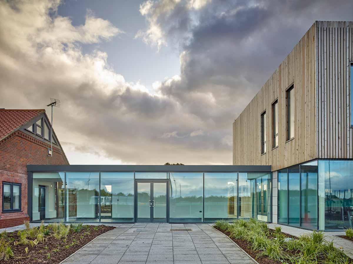 LSI Architects: NCFC Lotus Academy, Glazed Link